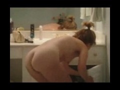 Hot mature broad after shower