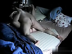 Voyeur amateur porn video shows a mature slut fucking