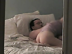 Voyeur video of a horny pair fucking