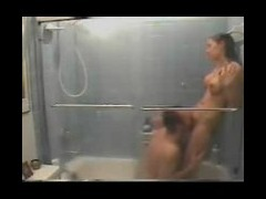 Hot shower sex voyeured