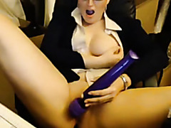 myrabelle in-store playing with cum-hole