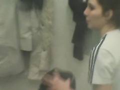 Voyeur clip of sluts in a lockerroom