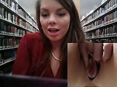 Masturbating in a library for Joey