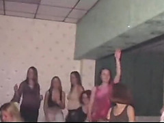 Hen party skanks engulfing stripper ramrods