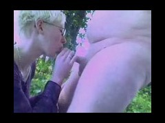 Cock sucking alfresco
