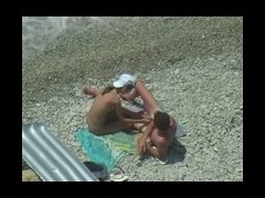 Sexy Couple having fun at nude beach