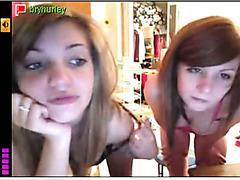 Me and my friend Amy live on webcam