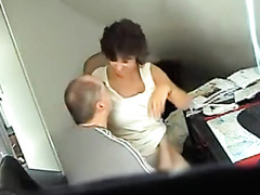 Banging a mature slut in the office
