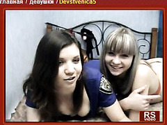 2 stripped lesbian babes jointly on webcam