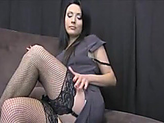 Slut posing in stocking online