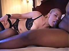 Breasty blonde in a hot 3-some