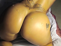 Screwing my latina ass with a dildo