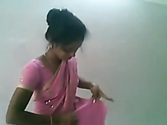 Cute Indian Desi Girl in Pink Saree Sucking and Fucking
