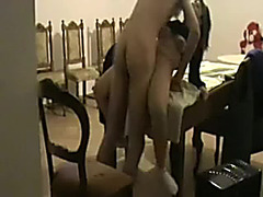 Screwing my sexy girlfriend in the guest room on the table